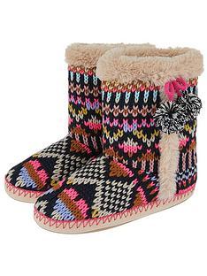 accessorize-frosty-fairisle-slipper-boot-multi
