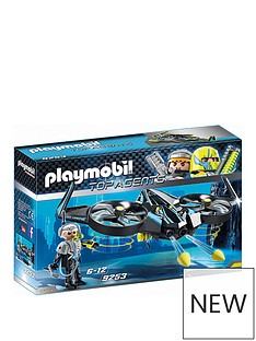Playmobil Playmobil 9253 Top Agents Mega Drone with Firing Weapon