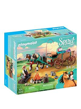 playmobil-playmobil-dreamworks-spirit-9477-lucky039s-dad-amp-wagon