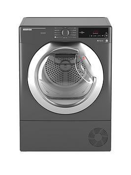 Hoover Dynamic Next Dxc10Tcer 10Kg Aquavision Condenser Tumble Dryer With One Touch - Graphite/Chrome