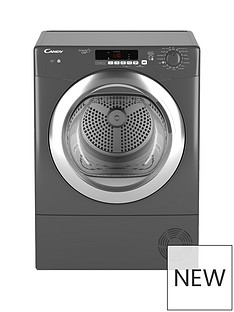 Candy Grand'O VitaGVSC9DCGR 9kg Load Condenser Sensor Tumble Dryer with Smart Touch- Graphite