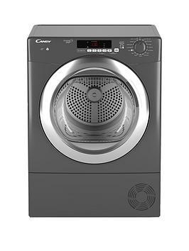 Candy Grand'O Vita Gvsc9Dcgr 9Kg Load Condenser Sensor Tumble Dryer With Smart Touch - Graphite