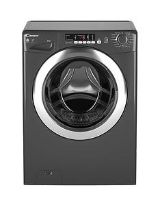 Candy GVSW496DCR 9kg Wash, 6kg Dry, 1400 Spin Washer Dryer with Smart Touch - Graphite