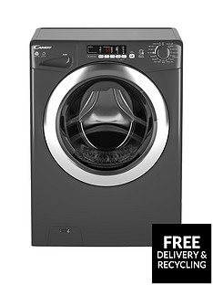 Candy GVSW496DCR9kg Wash, 6kg Dry, 1400 Spin Washer Dryer with Smart Touch - Graphite