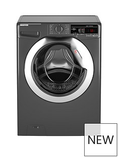 Hoover Dynamic Next DXOA48C3R 8kg Load, 1400 spin Washing Machine with One Touch - Graphite