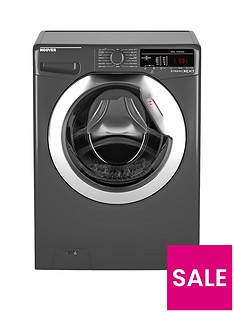 Hoover Dynamic Next DXOA49C3R 9kgLoad, 1400 Spin Washing Machine with One Touch- Graphite/Chrome