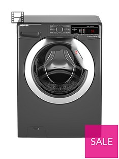 Hoover Dynamic Next DXOA49C3R 9kg Load, 1400 Spin Washing Machine with One Touch - Graphite/Chrome