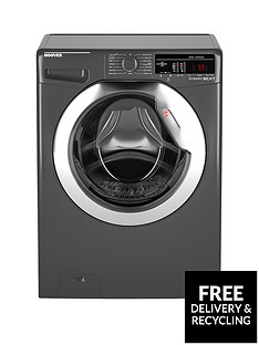 Hoover Dynamic Next DXOA410C3R 10kgLoad, 1400 Spin Washing Machine with One Touch - Graphite
