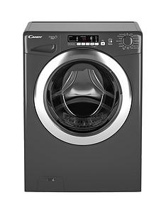 Candy Grand'O Vita GVS148DC3R 8kg Load, 1400 Spin Washing Machine with Smart Touch - Graphite