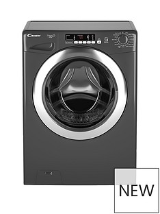 Candy Grand'O Vita GVS1410DC3R 10kg Load, 1400 Spin Washing Machine with Smart Touch - Graphite