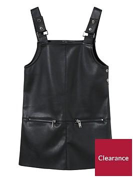 mango-girls-faux-leather-dungaree-dress-black