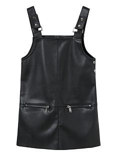 mango-girls-faux-leather-dungaree-dress