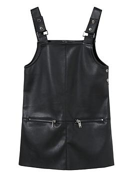mango-girls-faux-leather-dungaree-dress