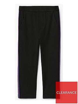 mango-girls-side-stripe-trouser-black