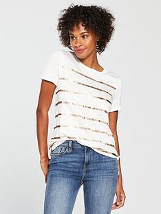 oasis-foil-stripe-slub-tee-white