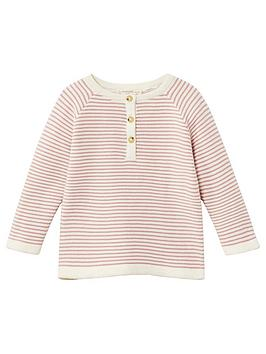 mango-newborn-girls-knitted-stripe-jumper-strawberry