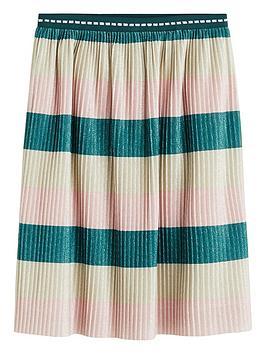 mango-girls-stripe-pleated-skirt