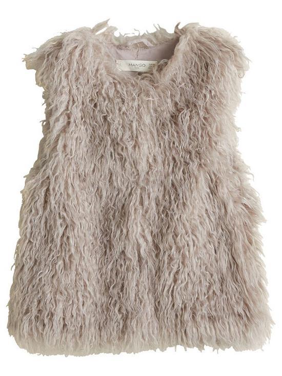 594c4745 Mango Girls Faux Fur Gilet | very.co.uk