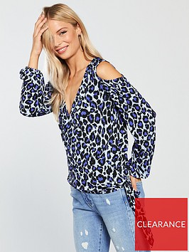 v-by-very-wrap-cold-shoulder-printed-top