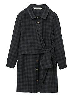 mango-girls-knot-front-check-dress-grey