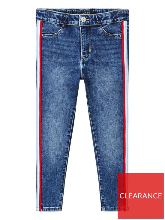 81c9f472251f Mango Girls Side Stripe Skinny Jean - Medium Blue