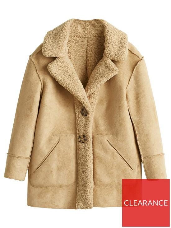 69590f8ac Girls Faux Shearling Coat