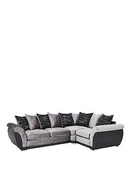 Alexa Fabric And Faux Leather Right Hand Scatter Back Corner Group Sofa