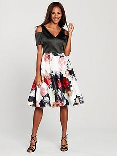 v-by-very-cold-shoulder-printed-prom-dress-floral