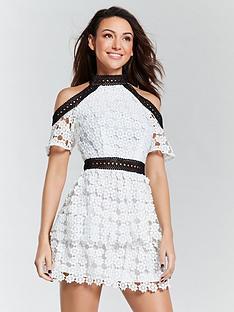 michelle-keegan-cold-shoulder-lace-dress-monochromenbsp