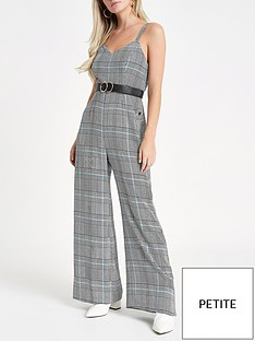 river-island-ri-petite-check-popper-jumpsuit-grey