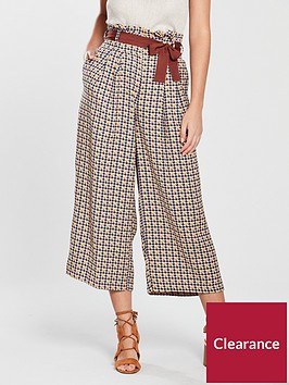 river-island-river-island-check-crop-belted-trousers-brown