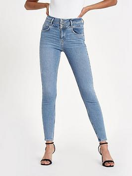 river-island-river-island-harper-regular-length-double-button-jeans-blue