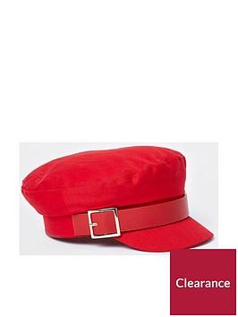 river-island-buckle-baker-boy-hat-red