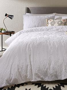 ideal-home-textured-diamond-200-thread-count-100-cotton-duvet-cover-set