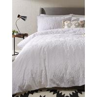 Textured Diamond Cotton Duvet Cover Set by Ideal Home
