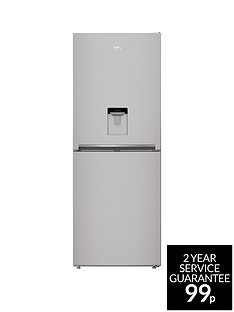 Beko CFG1790DS 70cmFrost-Free Fridge Freezer with Non-Plumbed Water Dispenser - Silver