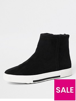 river-island-river-island-fur-lined-high-top-trainers-black