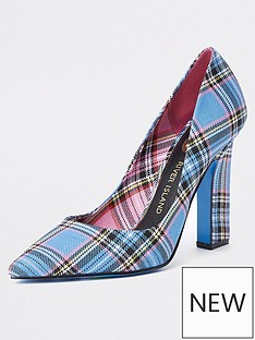 river-island-check-court-shoe-blue