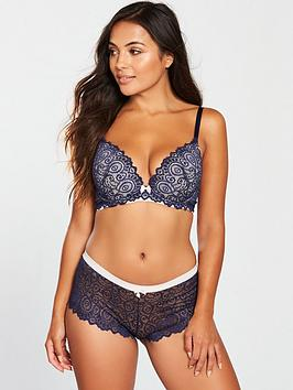 lepel-matlida-moulded-plunge-push-up-bra-navy