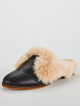 Kg Kg Mason Faux Fur Low Heeled Backless Mule Shoe