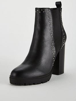 Kg Trinity 2 Heeled Ankle Boot &Ndash; Black