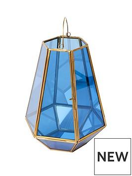 monsoon-blue-glass-lantern