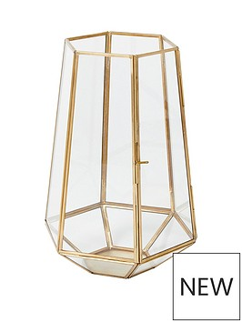 monsoon-large-gold-glass-lantern