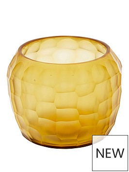 monsoon-amber-honeycomb-tealight-holder