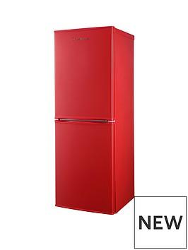 russell-hobbs-red-50cm-wide-144cm-high-freestanding-fridge-freezer