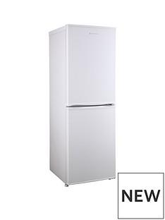 Russell Hobbs White 50cm Wide 144cm High Freestanding Fridge Freezer
