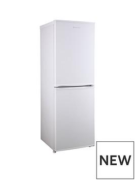 russell-hobbs-white-50cm-wide-144cm-high-freestanding-fridge-freezer