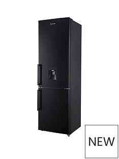 Russell Hobbs Black 55cm Wide 180cm High Freestanding Fridge Freezer with Water Dispenser