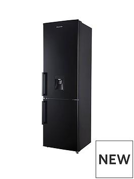 russell-hobbs-black-55cm-wide-180cm-high-freestanding-fridge-freezer-with-water-dispenser