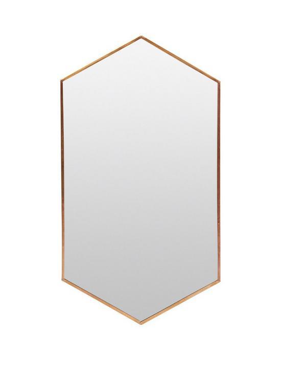 Monsoon Angular Copper Frame Mirror | very.co.uk